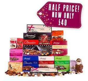 1/2 price hampers for 24 HOURS at Thorntons (+21% off + FREE delivery + 12% Quidco)