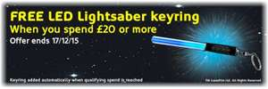 Free LED Starwars Keyring when you spend £20 at DuracellDirect -ends tomorrow 17-12-15
