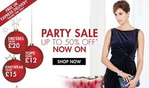Up to 50% Off Partywear / 30% Off Christmas Jumpers & Lingerie & Free Express Delivery on all orders at M&Co