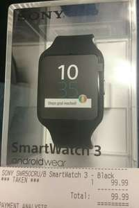 Sony SmartWatch 3 SW3 Black £99.99 @ Sony Centre