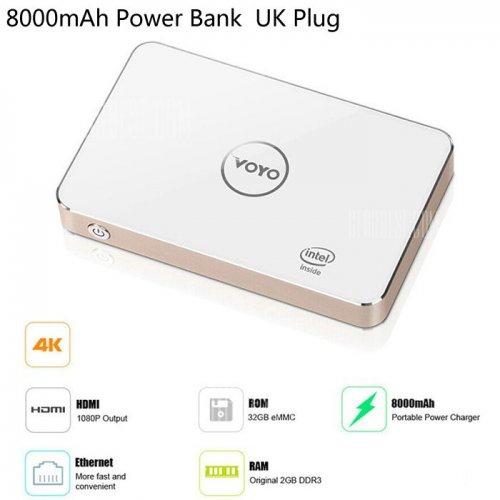 GearBest - Voyo V2 Mini PC, Windows 10, 2GB RAM, 32GB Storage, 8000mAH Battery - £50.19