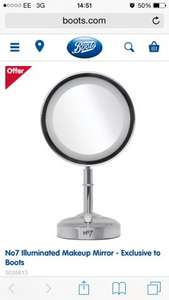 No7 illuminated make up mirror  £20.00 @ Boots Free Click&Collect Available