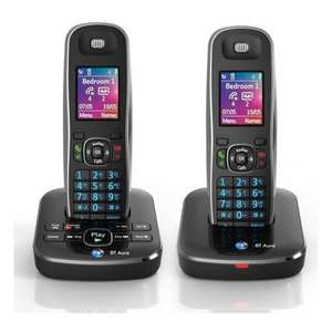 BT AURA1500-TWIN Phone set (50% Off with Code) - £35 (inc. Delivery) @Hughes