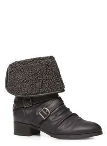 Lined Black Boots reduced from £58 to £18 at Evans free c&c