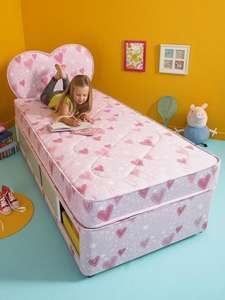 Airsprung Small Single Kids Divan With Storage And FREE Headboard £139 at Very