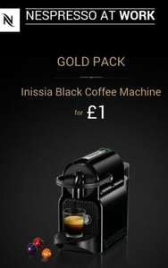 Order Nespresso capsules and buy the machine for just £1@nespresso