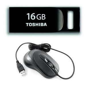 Toshiba 16GB TransMemory Mini USB 2.0 Drive - Black + FREE Emprex mouse £5.49 delivered @ Zoombits