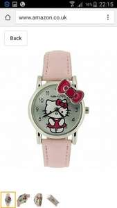 Hello Kitty  1 Girls Analogue Silver Dial & Pink Kitty Bow Baby Pink PU Strap Watch £6.75 (prime) £10.74 (non prime) Sold by NIGHT STAR and Fulfilled by Amazon.