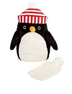 M & S Penguin Hot Water Bottle half price - now £10