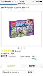 **absolute bargain** LEGO Friends Value Pack only £39.99 at argos. Cheapest around. Bargain price.