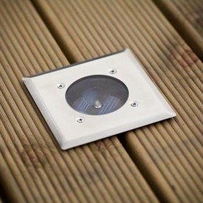 Stainless Steel Deck Garden Solar Light £1.00 poundland