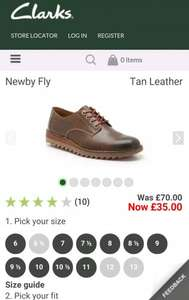 Mens Casual Shoes - Newby Fly in Tan Leather £35 from Clarks shoes