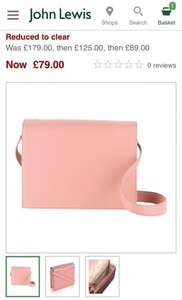 Radley Portman Medium Leather Shoulder Bag £79 was £179 saving you £100