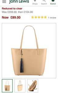 Radley De Beauvoir Large Tote Leather Bag £89 was £209 @ johnlewis