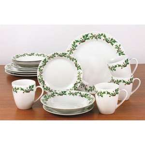 16pc Holly Christmas dinner set £20.98 delivered from Worldstore