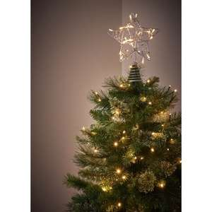 80 led light star tree topper silver £10,  delivery is £4 or free to collect in store @ wilko