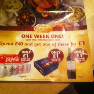 Spend £40 and get another item for £1 (see Description) @ Supervalu
