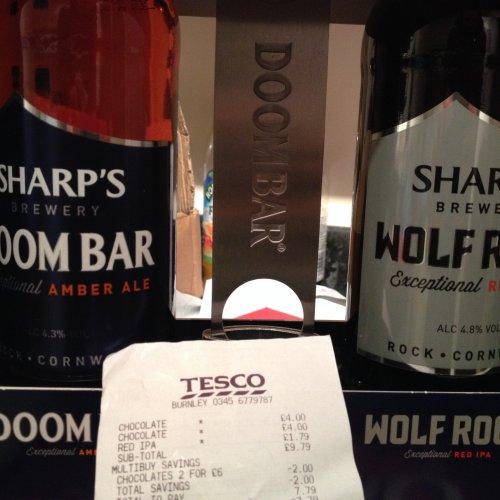 Sharps Doom Ale gift set £1.79 @ Tesco extra Burnley