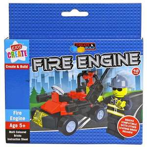 Kids Create and Build Construction Block Bricks Toy £0.99p for 1 or £1.98 for 3 @99p Stores (in store Leytonstone)
