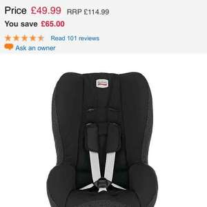 Britax car seat reduced to £49.99 In store and online Mothercare