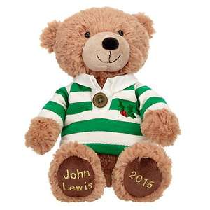 Christmas 2015 Bear with Rugby Shirt £5.00 (+ £2.00 C+C) John Lewis
