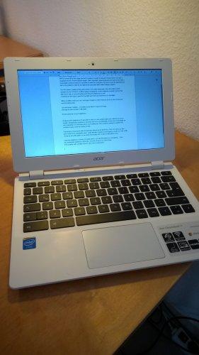Acer CB3-111 11.6 Inch Celeron 2GB 16GB Chromebook.  £129.99 at Argos was £179.99