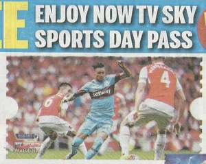 Second Free NOW TV Sky Sports Day Pass worth £6.99 - Daily Mail Friday Dec 18th (60p) - YOU CAN CLAIM ANOTHER PASS even if you already claimed one via The Mail on Sunday