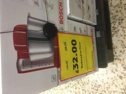 Bosch MUM48R1GB Food Mixer 600W £32 @ Tesco