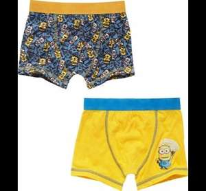 2 Pack Boys Minion Boxers £2.99 @ Argos