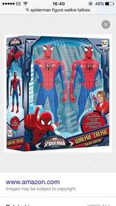 Spider-Man figure walkie talkies down from £16.99 to £4.99 @ B&M