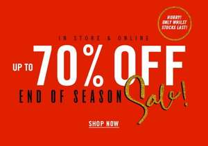 Up to 70% off end of season sale at Forever 21