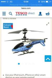 £10 (or free if you use a £5 Tesco boost) Silverlit Blu-Tech Heli I-Connect Bluetooth Chopper FREE BATTERIES FREE COLLECT NEXT DAY