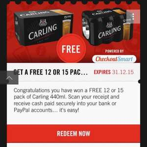 Free Carling multi packs/sky sports passes through iPint app.