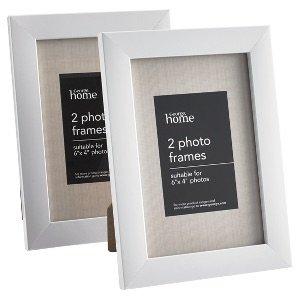2 White or Black 6x4 Photo Frames for £1 @ Asda free c&c