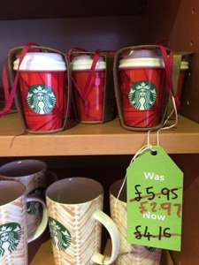 Starbucks - 50% Off Mugs, Tumblers & Decorations (in-store only)