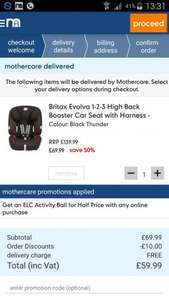 Download mothercare app & £10 off when you spend £50