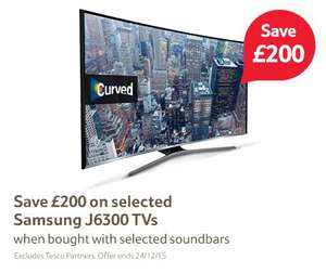 Buy selected Samsung J6300 TV and a selected Soundbar get £200 off (each)