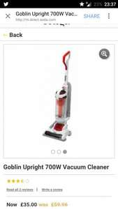 Goblin Upright 700W Vacuum Cleaner £35 at ASDA