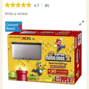 3DS XL silver and black with new super Mario bros 2. £99 at Tesco Direct