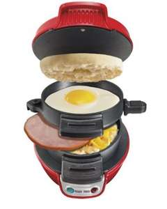 Hamilton Beach Electric Breakfast Sandwich Maker - Red £21.99 @ amazon