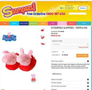 Peppa Pig and Hello Kitty Stompeez for £2.49 on Stompeez site