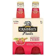 Crabbies fruits raspberry and rhubarb 4 pack scanning at £2 @ Asda