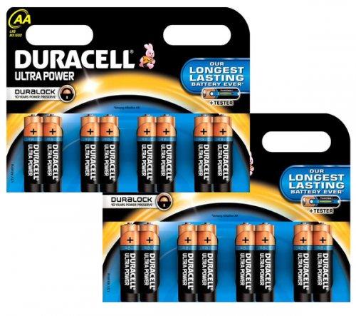 DURACELL 2 x LR6/MX1500 Ultra Power AA Alkaline Batteries - 8 pack. 16 x AA batteries £4 @ CURRYS