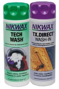Nikwax Tech Wash & TX Direct Twin Pack (300ml) £4.00 Delivered Prime (£8.75 Non Prime) @ Amazon