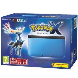 Nintendo 3DS XL Blue and Black Console - Includes Pokemon X  £104.99 @ zavvi