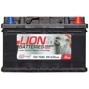 Lion type 100 car battery 3 yr guarantee £31.87 with code @ eurocarparts