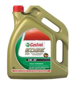 Castrol Edge FST Fully Synthetic 5W30 Engine Oil (4 Litre) £24.99 @ Carparts4less Plus 10% code VCloud200 that brings down to £22.49