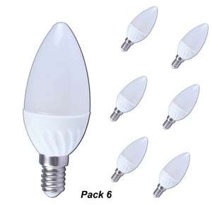 Lampaous 6X 3W LED E14 Candle Bulb Light, SES E14 Edison Screw LED Bulb Candle 40W E14 Incandescent  Lamp Replacment, Natural White Ceramic Candelabra lights £15.99 (prime) £19.98 (non prime) Sold by Lampaous