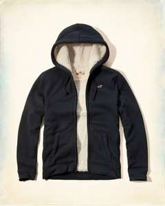 Hollister Sherpa Lined Fleece Hoodie (Upto 50% sale going on) £24.50 @ Hollister