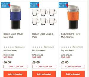 Bodum Bistro Travel Mug only £6 with free C&C (down from £12) @ Tesco